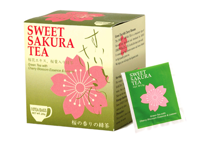 Sweet Sakura Tea - Green Tea Teabags