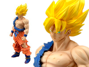 Dragon Ball Z – Super Saiyan Son Goku (Damage Ver.) Complete Figure (Gigantic Series/PLEX)